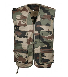 Gilet Militaire multi-poches camouflage