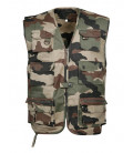 Gilet Reporter Militaire Multi-Poches Camouflage