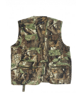 Gilet multipoches chasse Camouflage