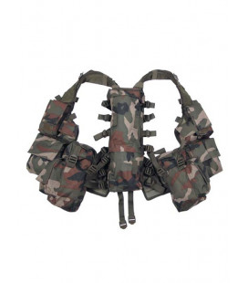 Gilet tactical, camouflage woodland - Surplus militaire