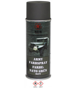 spray paint armée, NATO VERT, mat, 400 ml - Surplus militaire