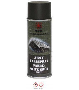 spray paint armée, KAKI, mat, 400 ml - Surplus militaire