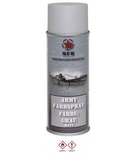 spray paint armée, GRIS, mat, 400 ml - Surplus militaire