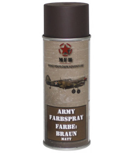 spray paint armée, LA BOUE BRUNE, mat, 400 ml - Surplus militaire