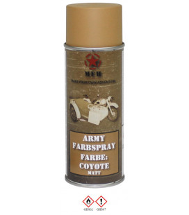 spray paint armée, COYOTE, mat, 400 ml - Surplus militaire