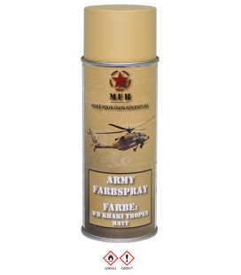 spray paint armée, WH KHAKI TROPEN, mat, 400 ml - Surplus militaire