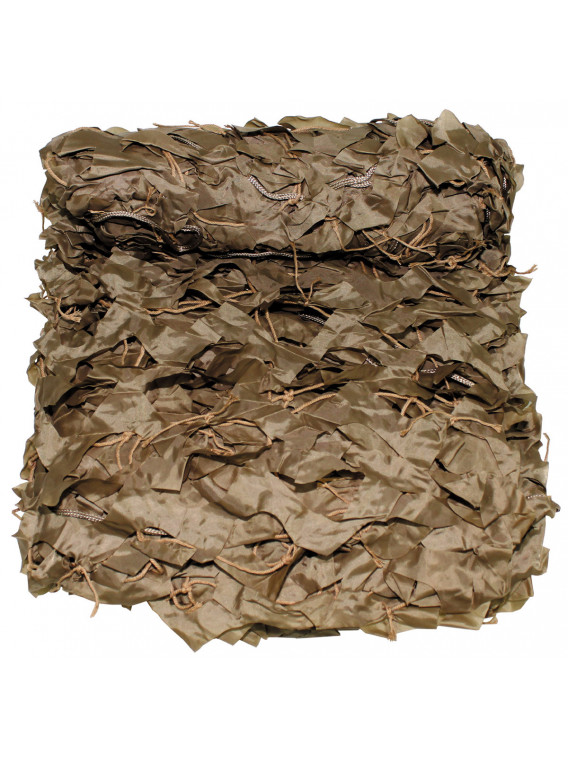 "filet camouflage, 2x3m, ""Basic"", kaki, avec sac de PVC - Surplus militaire"