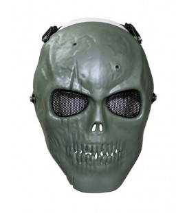 "Masque de protection ""Tête de mort"" Airsoft Kaki - Surplus militaire"