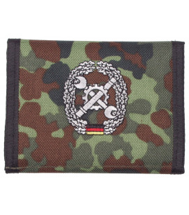 Portefeuille BW, BW camo, w/ins., logo F - Surplus militaire