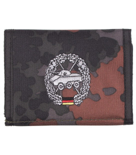 Portefeuille BW, BW camo, w/ins, logo S - Surplus militaire