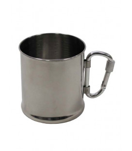 Tasse inox encoche mousqueton 220 ml