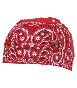 Couvre tête, paisley-rouge