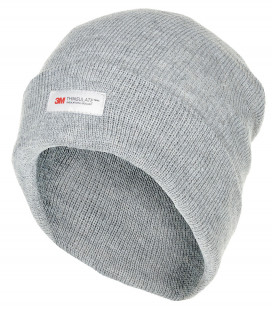 Bonnet, tricoté, gris, court, doublure Thinsulate
