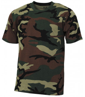 "US Tee-shirt, ""Streetstyle"", woodland, 140-145 g/m² - Surplus militaire"