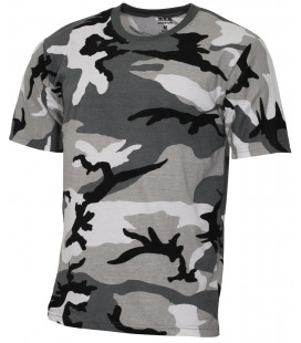 "Tee-shirt militaire US ""Streetstyle"" camouflage Urbain gris"