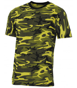 "US Tee-shirt, ""Streetstyle"", jaune camou, 140-145 g/m² - Surplus militaire"