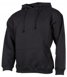 "Sweat-shirt capouche, ""PC"", 340 g/m², noir - Surplus militaire"