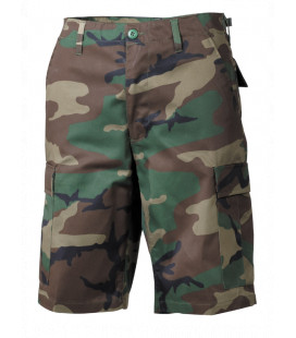Bermuda militaire US BDU camouflage woodland homme
