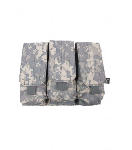 Porte chargeur triple camouflage AT-digital attache Molle