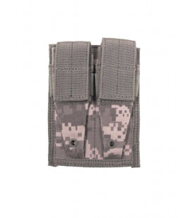 Porte chargeur double camouflage AT-digital attache Molle - Surplus militaire