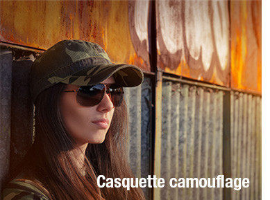 Casquette camouflage